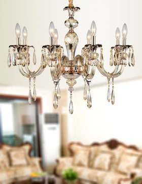 Amelia 8 Light Chandelier (Champagne)