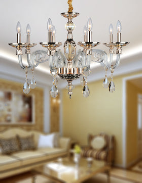 Anastasia 8 Light Chandelier (Champagne)