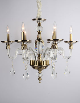 Anastasia 6 Light Chandelier (Clear)