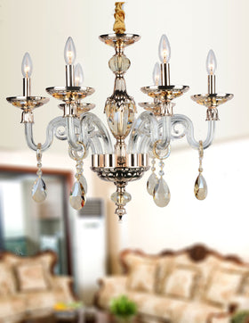 Anastasia 6 Light Chandelier (Champagne)