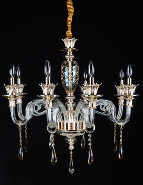 Alvina 8 Light Chandelier (Champagne)