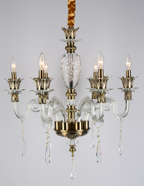 Alvina 6 Light Chandelier (Clear)