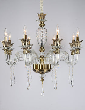 Alvina 8 Light Chandelier (Clear)