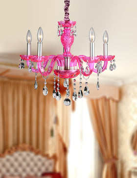 Gloria 5-Light Chandelier (Pink)