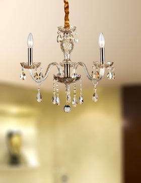 Gloria 3 Light Chandelier (Champagne)