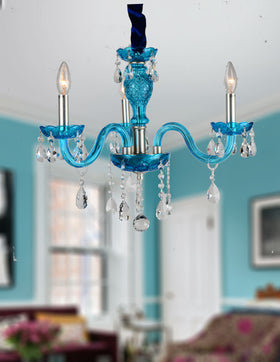 Gloria 3 Light Chandelier (Blue)