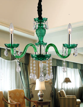 Gloria 3 Light Chandelier (Green)