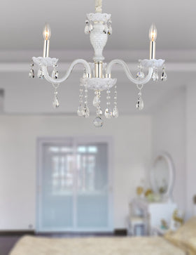 Gloria 3 Light Chandelier (White)