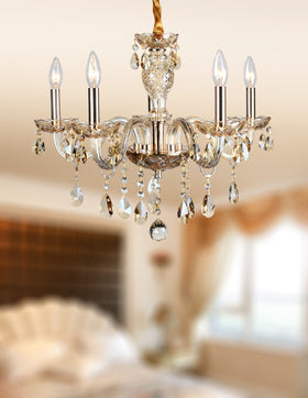 Gloria 5 Light Chandelier (Champagne)