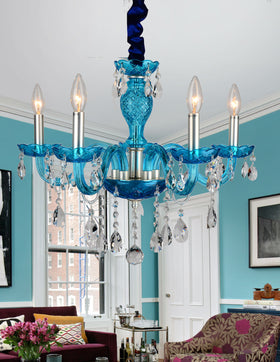 Gloria 5-Light Chandelier (Blue)