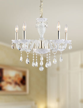 Gloria 5 Light Chandelier (White)