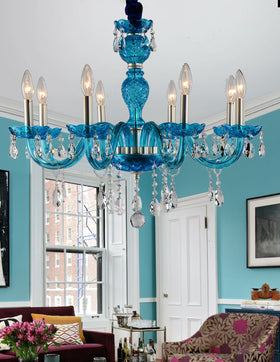 Gloria 8-Light Chandelier (Blue)
