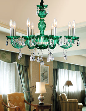 Gloria 8-Light Chandelier (Green)
