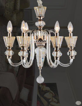 Alaina 6 Light Chandelier (Champagne)