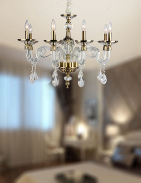 Anastasia 8 Light Chandelier (Clear)
