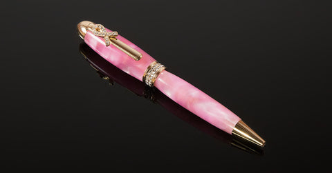 Handcrafted Ballpoint Pen - Breast Cancer Awareness