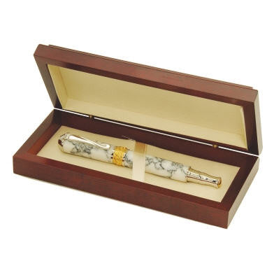 Cherry Pen Box that can be personalized by engraving your name and/or company logo