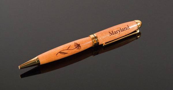 Handcrafted Ballpoint Pen - Engraved State Pride Euro-Style