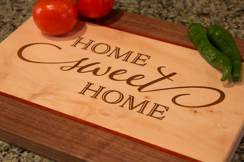 Handcrafted Hardwood Cutting Board - Personalized