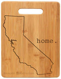Bamboo cutting board state pride engraved - California