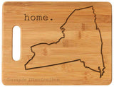 Bamboo cutting board state pride engraved - New York