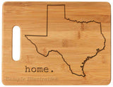 Bamboo cutting board state pride engraved - Texas