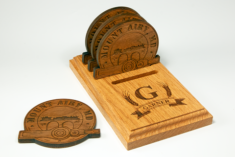 Personalized Coaster Set - Mount Airy MD Themed