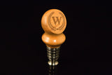 Handcrafted Bottle Stopper - Single Bead Personalized