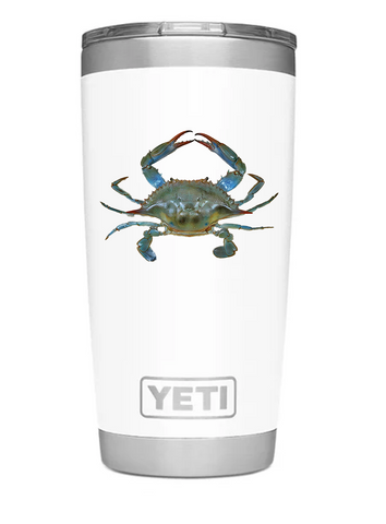 YETI Rambler 20oz. Tumbler with Iconic Blue Crab