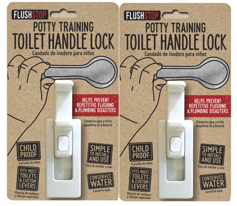 Childproof Toilet Handle Lock (2-Pack)                                          (AVAILABLE ON AMAZON)