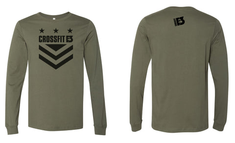 Long Sleeve Jersey Tee in Military Green (3501)