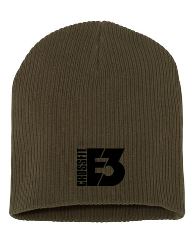 Chunky Skully Beanie in Olive (SP1100)