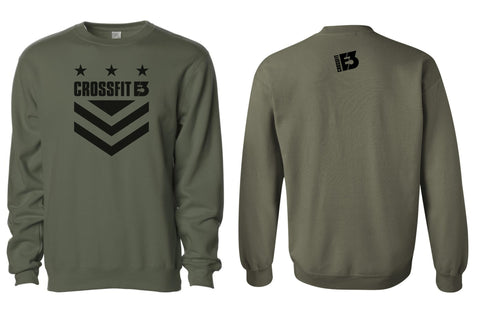 Midweight Crewneck Sweatshirt in Army (SS3000)