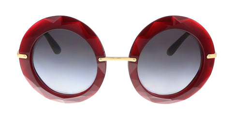 Dolce & Gabbana DG6105 155111 Ruby Round Faceted Sunglasses