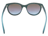 Vogue VO2915S 226048 Petroleum Green Glitter Round sunglasses