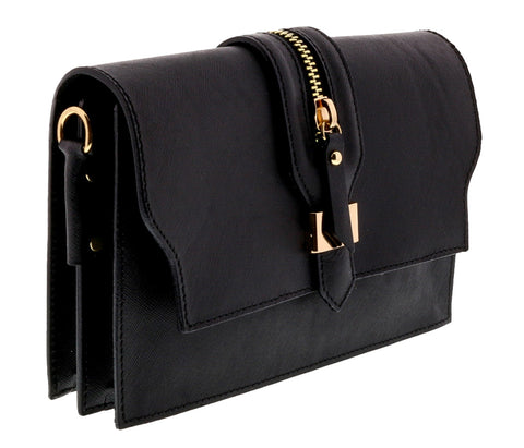 HS Collection HS1290 NGU GARA Black/Gunmetal Shoulder Bag