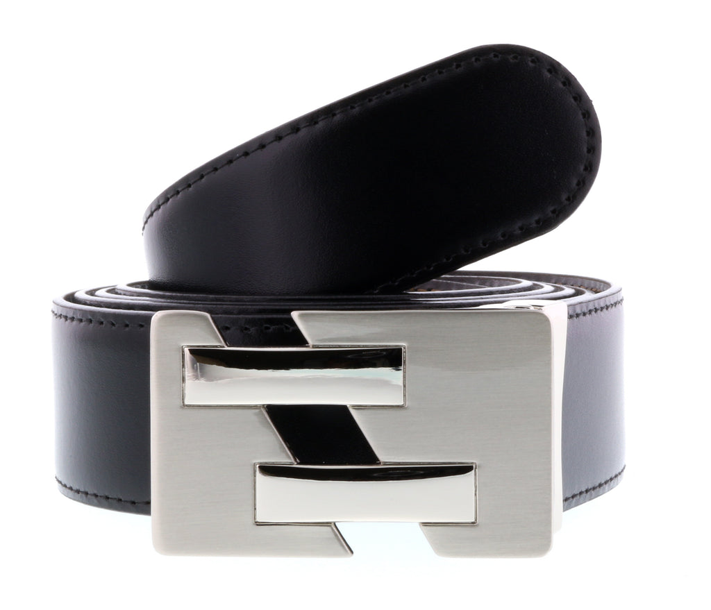 HS Collection HSB 8099  Black/Brown Reversible/Adjustable Mens Belt - [product_Vendor] - Bellaochio