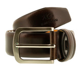 Romeo Gigli C855/35S T.MORO Dark Brown Leather Adjustable Mens Belt