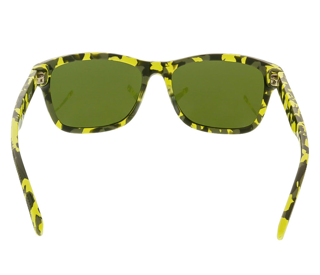 9f4ad5f94ee ... Lacoste L683S 317 Black Neon Camouflage Rectangle Sunglasses ...