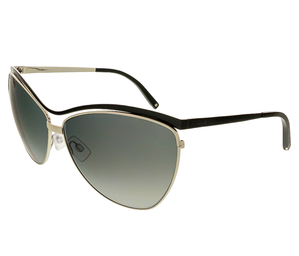 Dsquared DQ0100/S 20B Black/Silver Cat Eye Sunglasses