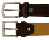 Renato Balestra CESARE Brown Brown Leather Mens Belt - Mens Apparel - BellaOchio
