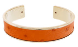 Stamerra  Orange Genuine Ostrich Bracelet