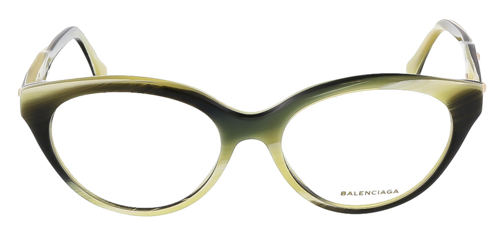 Balenciaga BA5001/V 064 Yellow Black Horn Round prescription-eyewear-frames