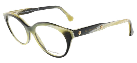 Balenciaga BA5004/V 064 Yellow Black Horn Oval Opticals