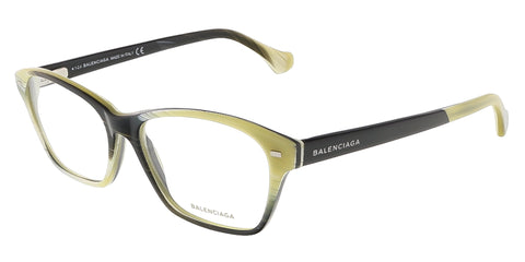 Balenciaga BA5031/V 064 Yellow Black Horn Oval prescription-eyewear-frames
