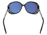 Swarovski SK0022/S 01A Black/Dark Ruthenium/Silver Oversized sunglasses