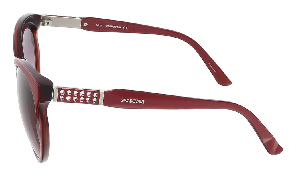 Swarovski SK0081/S 71T Shaded Burgundy/Pearl Burgundy Round sunglasses