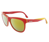 Diesel  Red/Yellow&Clear Wayfarer sunglasses