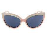 Diesel DL0117/S 72V Baby Pink/Silver Cat Eye sunglasses