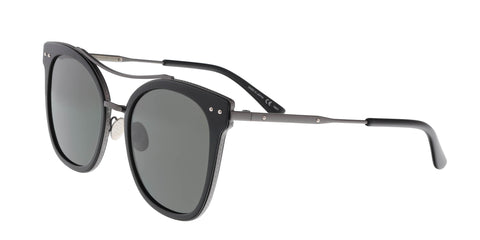 Prada PR 53US 23C5R0 Silver / Medium Havana Cat eye Sunglasses